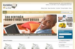 Site de certidão online
