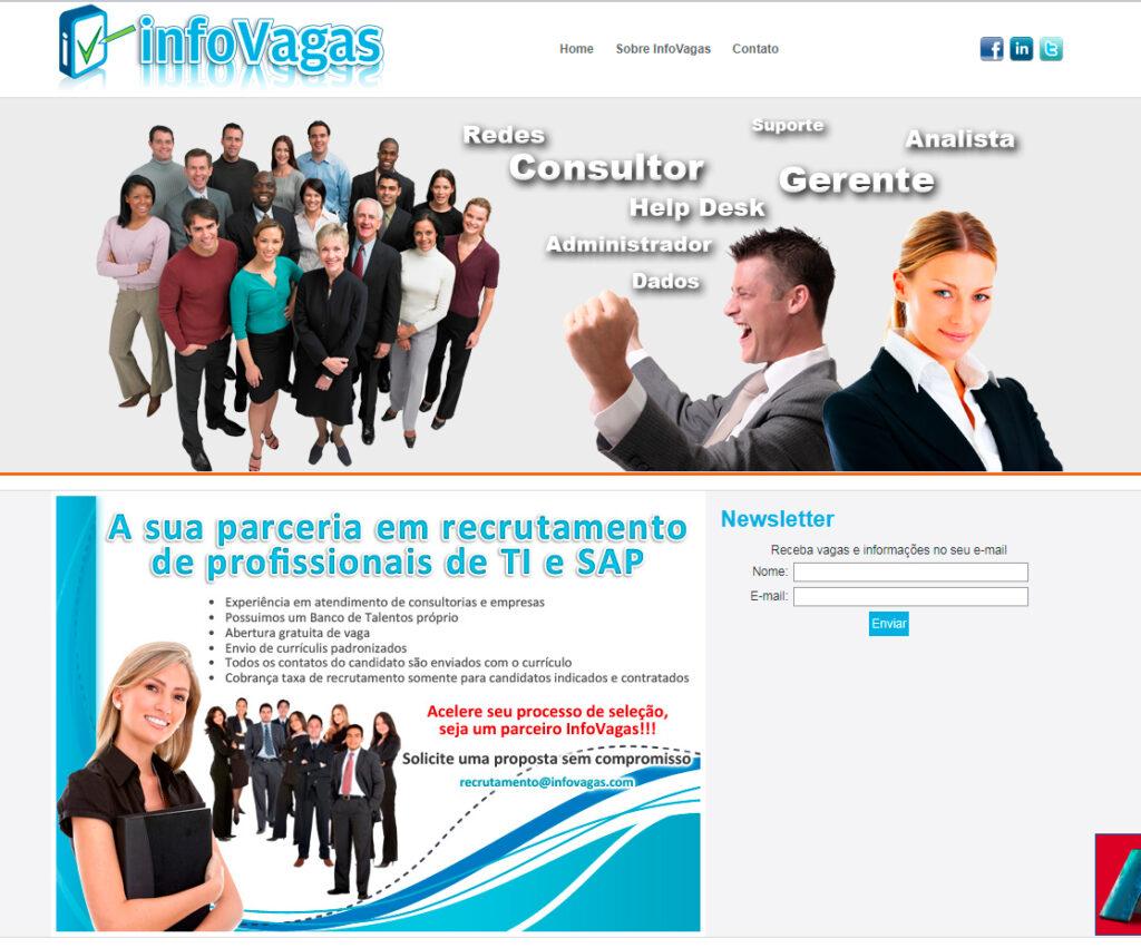 Site para agencia de empregos
